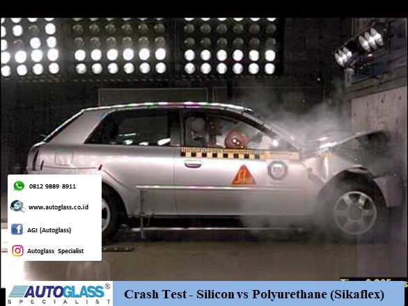 Crash Test Silicon vs Polyurethane Sikaflex - Crash Test - Silicon vs Polyurethane (Sikaflex)